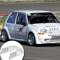 Kit Makrolon Renault Super 5 GT - 5mm