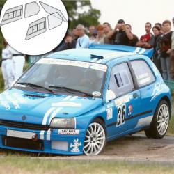 Vitre avant Makrolon Renault Clio 1