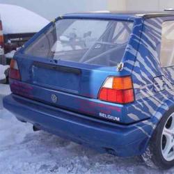 Lunette arrière Makrolon Volkswagen Golf 2